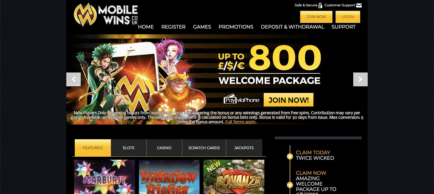 mobilewins casino review
