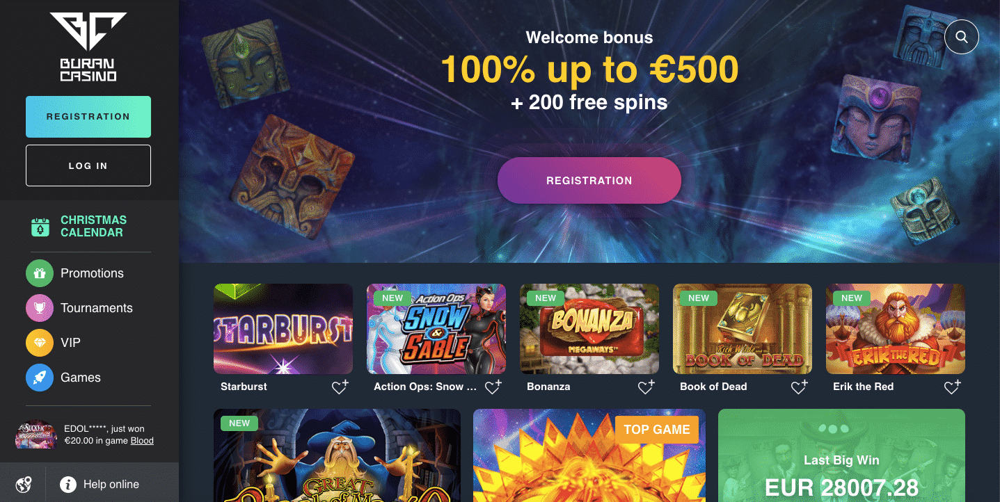 buran casino review