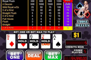 Play the LOOSE DEUCES Slots Online For Free or Real Money