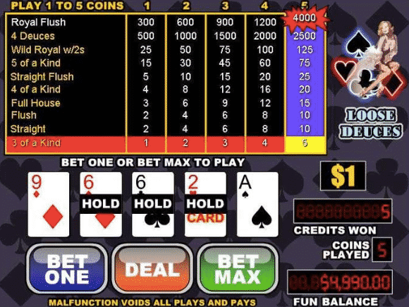 play loose and deuces slot