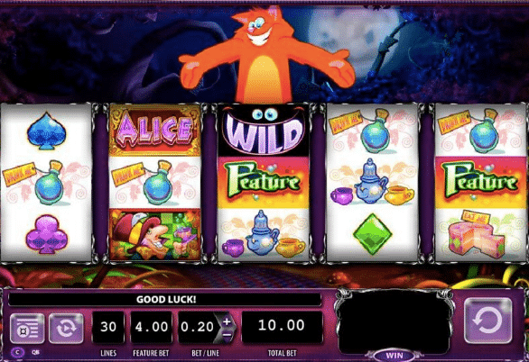 play alice and the mad tea slot free
