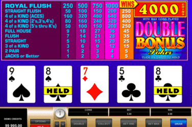 Play the BONUS POKER Slots Online For Free or Real Money