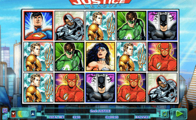 play justice league slot