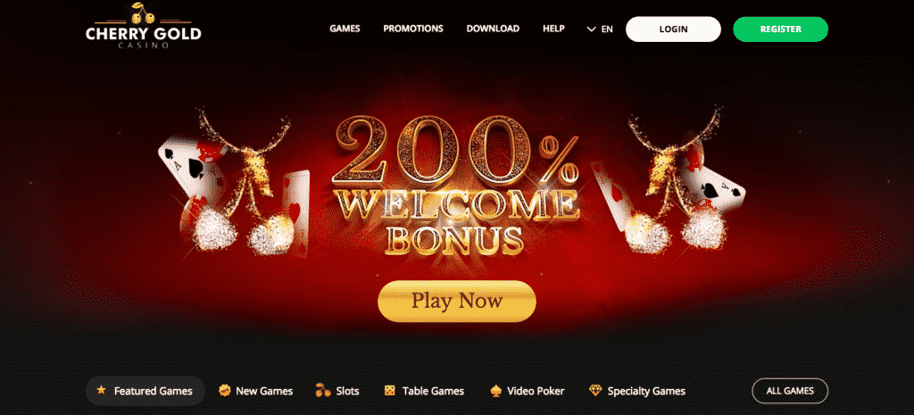 cherry gold casino promo code